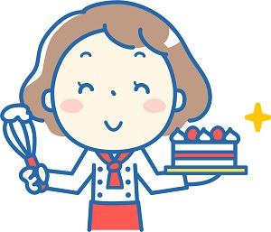 ケーキ屋さんのイラスト