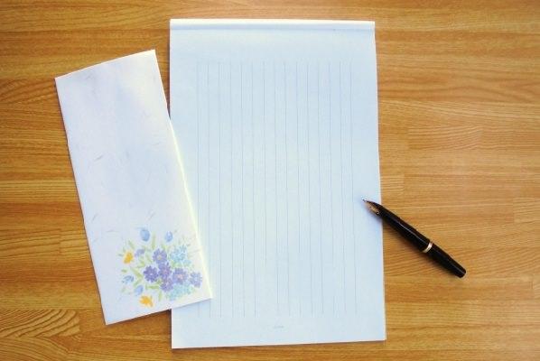 和封筒の画像